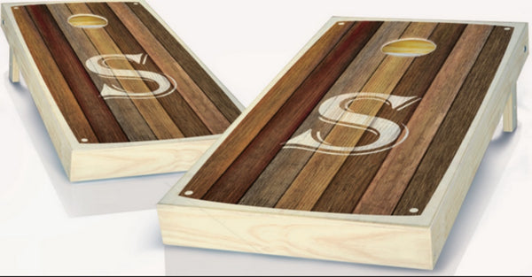 Custom Monogram Cornhole Boards - S
