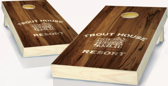 Stained Wood Custom Cornhole Boards