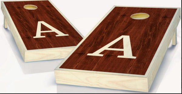 Custom Monogram Cornhole Boards - A
