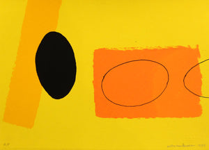 Wilhelmina Barns-Graham - Orange and Lemons Playing Games - Gallery TEN - Graal Press - St Ives Group - Screenprint