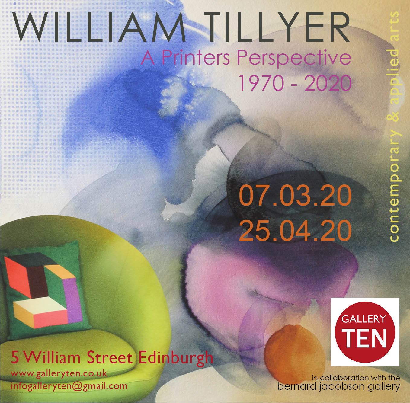 William Tillyer Exhibition Gallery Ten March 2020