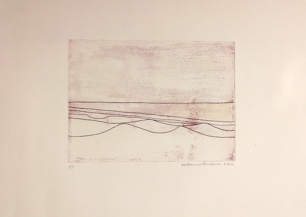 Six Lines - Wilhelmina Barns Graham - Gallery TEN - Original Print - Etching - Scottish Gallery