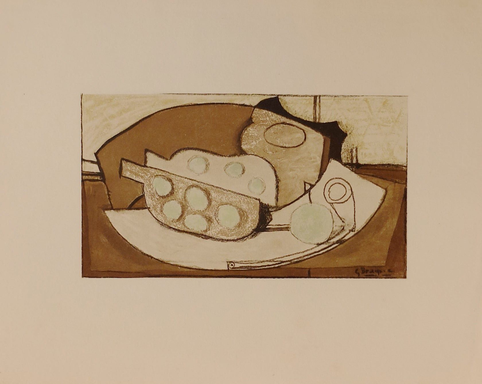 George Braque - Grenade et Pipe - Gallery Ten - Original Print