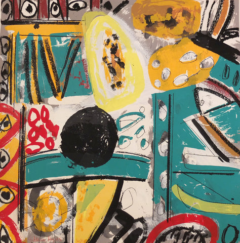 Gillian Ayres - ICTIS - Gallery Ten - Original Print
