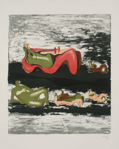Henry Moore - Group of Reclining figures - Gallery Ten - Original Print - Modern British