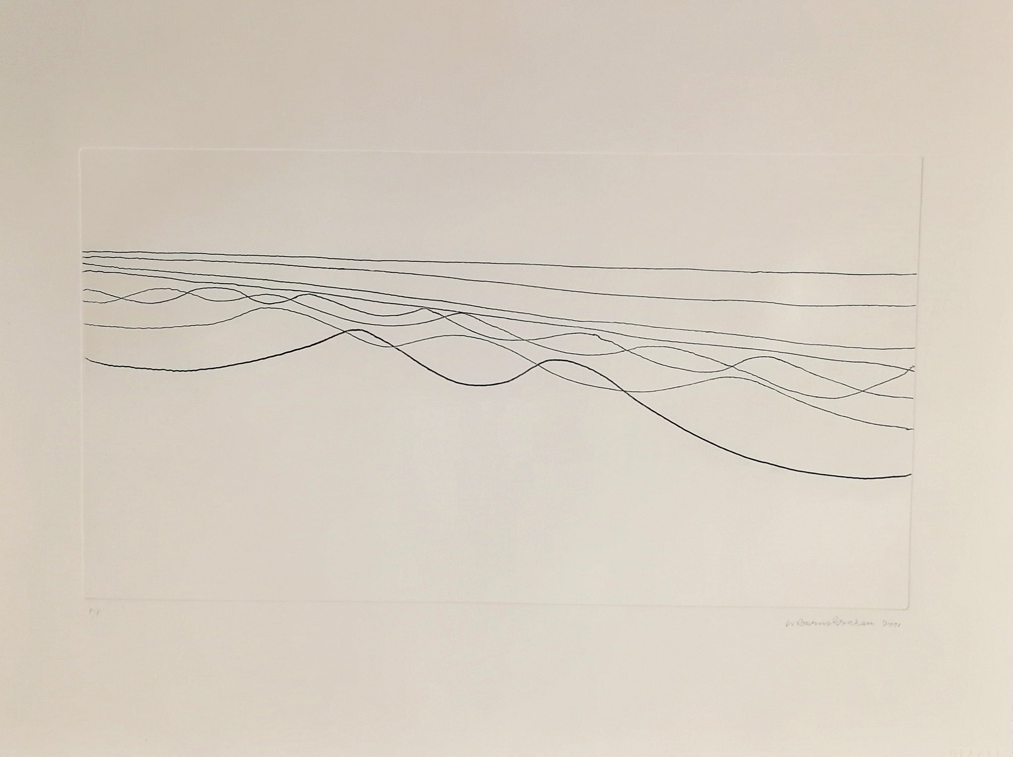 Wilhelmina Barns-Graham - Eight Lines - Galelry TEN - Etching - St Ives Group - Edinburgh Gallery