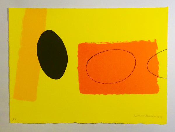 Orange & Lemon playing Games - Wilhelmina Barns-Graham - Gallery TEN - Original Print Gallery