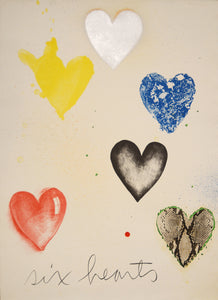Jim Dine - Six Hearts - Gallery Ten - Original Print - Modern Art