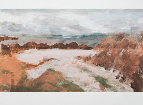 Kelly Stewart - Stormy Day On Iona - Gallery Ten - Original Print - Monotype