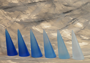 Robin Crawford - Blue Cones - Gallery TEN - Art Glass - Studio Glass