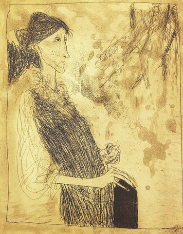 Ralph Steadman - Virginia Woolf I - Gallery Ten - Orginal Print - Etching