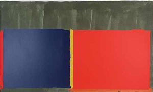 John Hoyland - Blu Red - Gallery TEN - Original Print - Screenprint