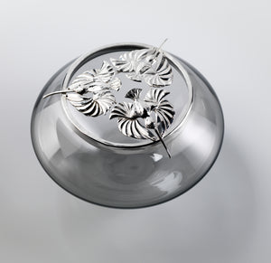 Bryony Knox - Hummingbird Trio Rosebowl - Silver & Glass - Gallery TEN - Edinburgh Gallery - HOMOFABER