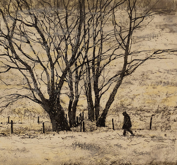 Victoria Crowe - Winter Trees - Gallery TEN - Original Print