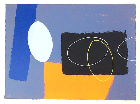 Cobalt & Orange Playing Games - Gallery TEN - Original Prints - St Ives Group
