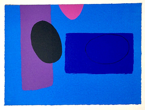 Wilhelmina Barns Graham - Cobalt playing Games - Gallery TEN - Original Print Gallery - Modern Art