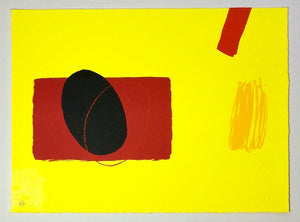 Red Playing Games - Wilhelmina Barns Graham - Gallery TEN - Original Print Gallery - Modern Art