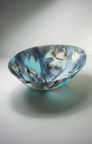 Amanda Simmons - Arctic Tern Vessel - Kilnformed Glass - Gallery TEN - Contemporary Glass Art - Homo Faber