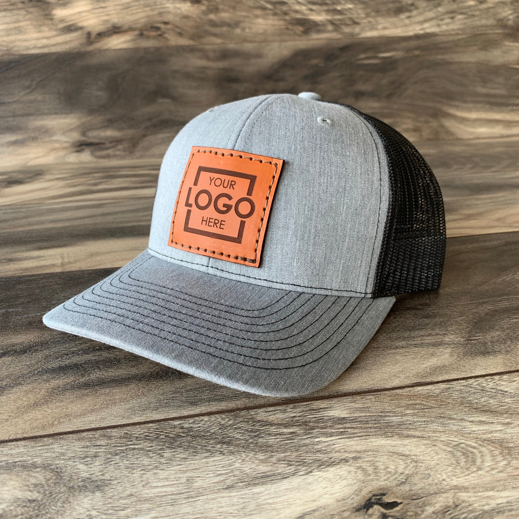 6b505b1017d51 Custom Leather Patch Hat - Your Logo or Design – Ohlman Leather Co.