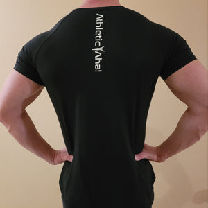 Athletic Aha! Fit and Flex T shirt-Bodybuilding