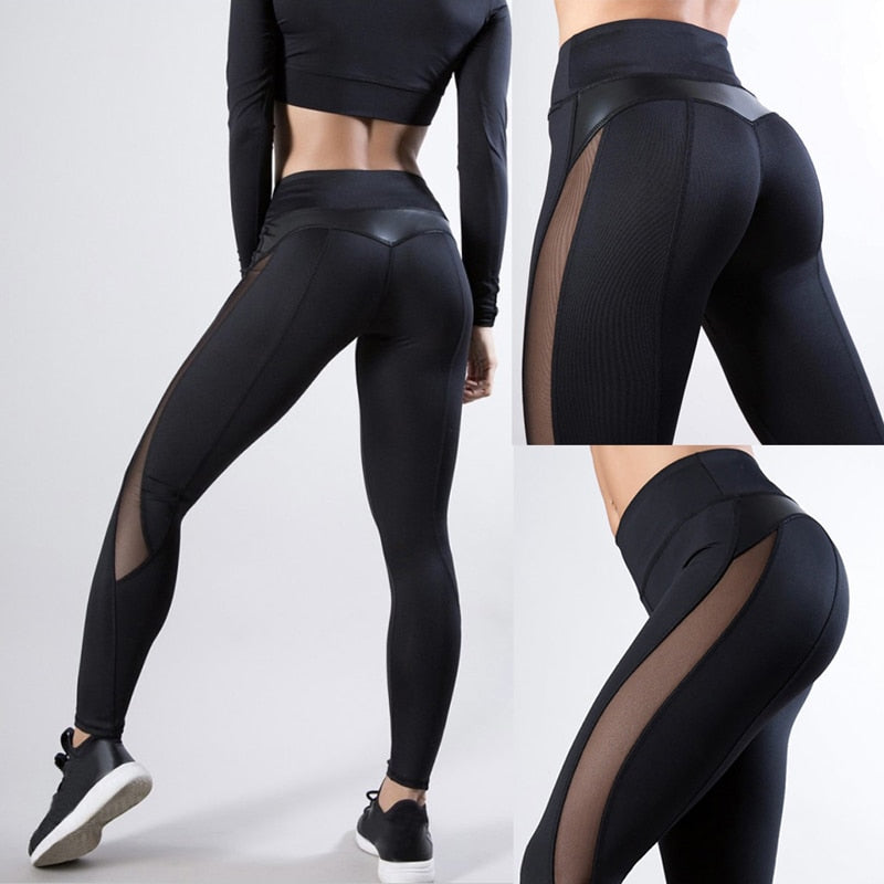 Peek-a-boo Mesh Leg Day Leggings