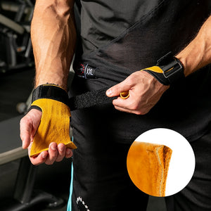 Leather Weight Lifting Grips