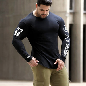 Spring Men Black Skinny Long Sleeve Shirts
