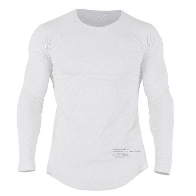 Spring Men Casual Fitted Cotton T-shirt