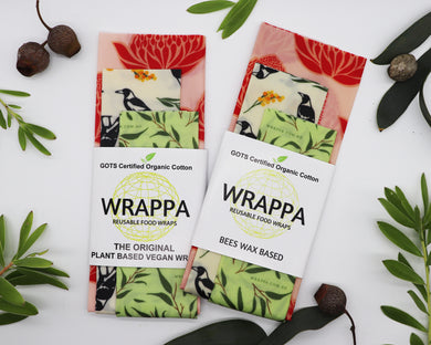 Wrappa Beeswax Wraps  - 3 pack