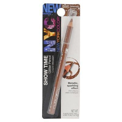 NYC Color Show Time Glitter Eyeliner Pencil # 946 Glitterazzi Brown - reddonut.com