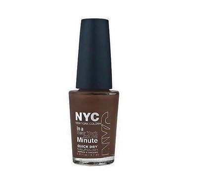 NYC Color Minute Quick Dry Nail Polish 207 Brownstone .33 fl oz  NEW, Nail Polish, NYC, reddonut.com