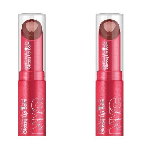 Nyc Applelicious Glossy Lip Balm, 352 Chocolate Apple Choose Your Pack, Lip Balm & Treatments, NYC, reddonut.com