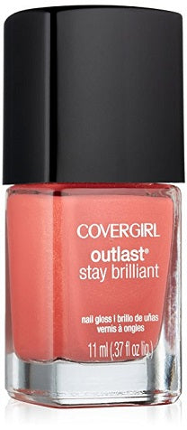 Covergirl Outlast Stay Brilliant Nail Polish, 250 My Papaya Choose Your Pack - reddonut.com