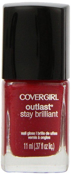 Covergirl Outlast Stay Brilliant Nail Gloss, Lasting Love 180, 0.37 Ounce, Nail Polish, COVERGIRL, reddonut.com