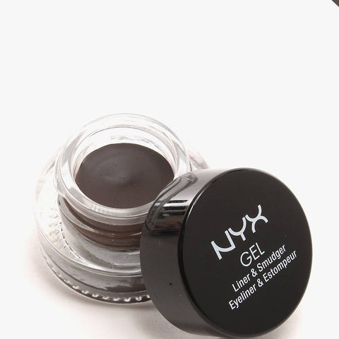 Lot Of 2 - Nyx Gel Liner & Smudger Color Glas05 Scarlette Dark Brown New, Eyeliner, NYX, reddonut.com
