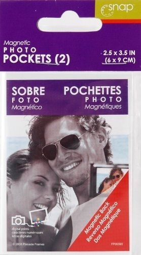Snap Magnetic Photo Pockets 2-Pack, 2-1/2-Inch By 3-1/2-Inch, Frames, Snap, reddonut.com