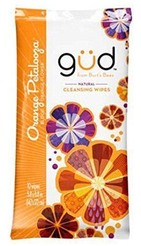 Gud From Burt's Bees Orange Petalooza Blood Orange Flower Cleansing Wipes, Body Washes & Shower Gels, Gud natural, reddonut