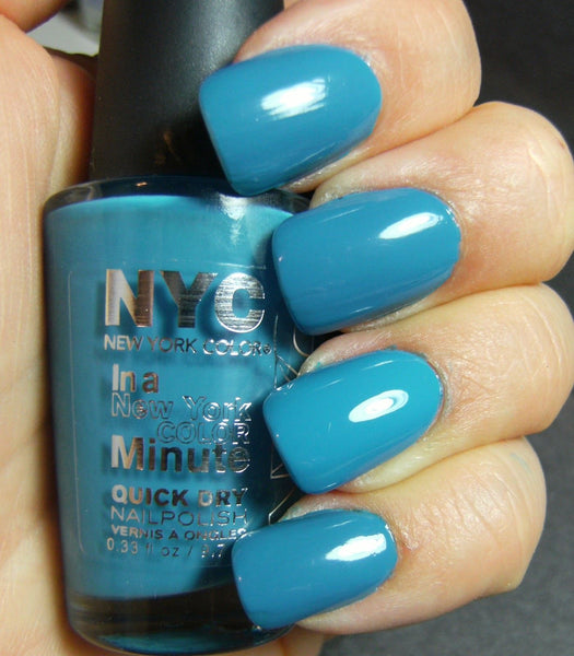 NYC  2296 WATER STREET BLUE IN A MINUTE NAIL POLISH QUICK DRY, Nail Polish, NYC, reddonut.com