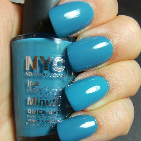 NYC  2296 WATER STREET BLUE IN A MINUTE NAIL POLISH QUICK DRY__NYC