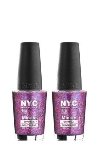 Lot Of 2 - New York Color In A New York Color Minute Nail Polish Big City Dazzle, Nail Polish, NYC, reddonut.com
