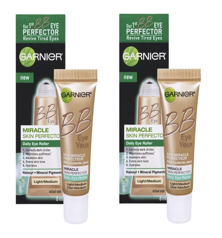 Garnier Skin BB Eye Miracle Skin Perfector Eye Roller Light/Medium 0.27 Fl Oz - reddonut.com