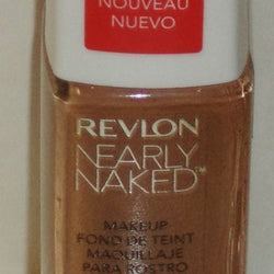 NEW REVLON NEARLY NAKED FOUNDATION LIQUID # 220 NATURAL TAN__Revlon