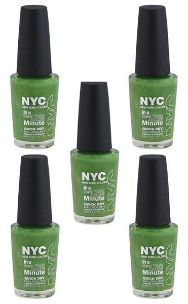 Lot Of 5 - Nyc New York In A Minute Quick Dry Nail Polish High Line Green #298, Nail Polish, NYC, reddonut.com