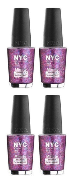 Lot of 4 - New York Color in a New York Color Minute Nail Polish Big City Dazzle, Nail Polish, NYC, reddonut.com