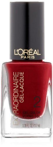 LOREAL  - BRAND NEW - HOT COUTURE - EXTRAORDINAIRE GEL LACQUE - STEP 2, Gel Nails, LOREAL, reddonut