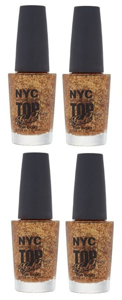 LOT OF 4 - N.Y.C. New York Color Minute Nail Enamel, Top of the gold, Manicure/Pedicure Tools & Kits, NYC, reddonut.com
