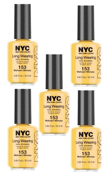 Lot Of 5 - Nyc Long Wearing Nail Enamel - Midtown Mimosa - reddonut.com