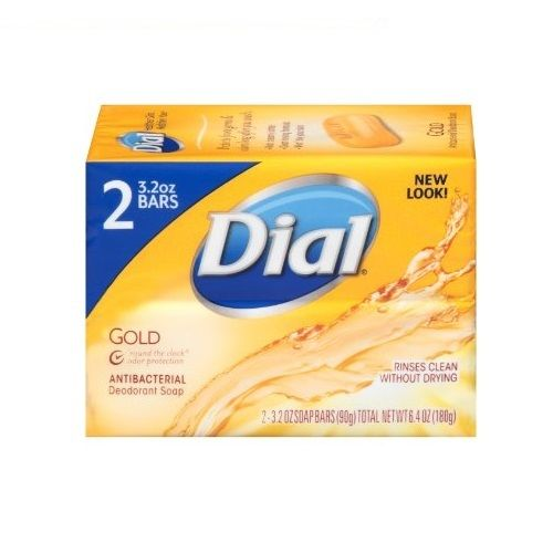Dial Antibacterial Deodorant Bar Soap, Gold 4 Oz (Pack Of 2), Other Bath & Body Supplies, Dial, reddonut.com