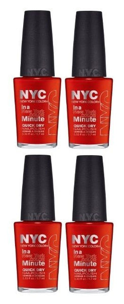 Lot of 4 -nyc in a New York Color Minute Quick Dry Nail Polish 221 Spring Street__NYC