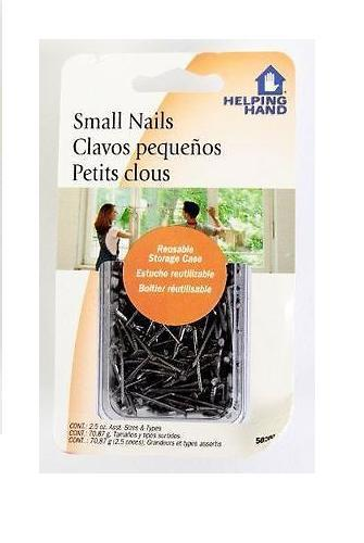 Helping Hand Small Straight T-head Nails, 2.5 Oz, Nails, Helping Hand, reddonut.com